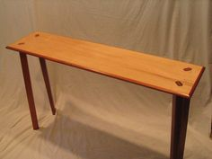 Table with through joints