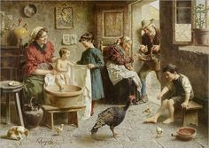 ZAMPIGHI, EUGENIO(Modena 1859 - 1944 Maranello)Family bliss