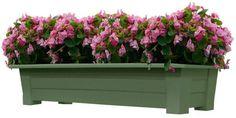 Outdoor Deck Patio Porch Herb Flower Garden Plastic Planter Container Pot Box #AdamsManufacturing