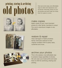 Printing, Storing & Archiving Old Photos