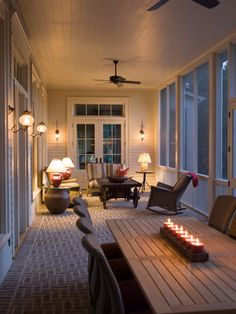 Screened In Concrete Porch Design Ideas, Pictures, Remodel, and Decor
