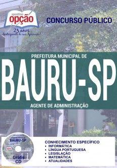 Promoção -  Apostila Concurso Bauru Agente de Administração  #concursos Saiba como adquirir a sua http://apostilasdacris.com.br/apostila-concurso-bauru-agente-administracao/