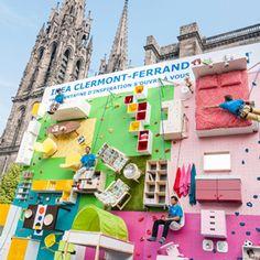 """IKEA invita a escalar un divertido """"muro-apartamento"""" de 9 metros de altura equipado con sus muebles"""