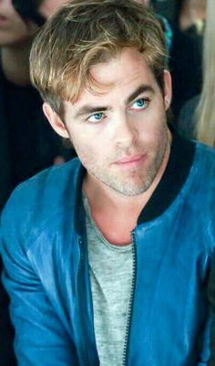 Chris Pineblue eyes,blue jacket