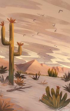 Like: zandraart illustrations illustration art art illustration paintings artwork art art art illustration Fantasy Landscape, Landscape Art, Landscape Paintings, Desert Landscape, Landscapes, Painting Digital, Digital Painting Tutorials, Digital Art, Scenery Wallpaper