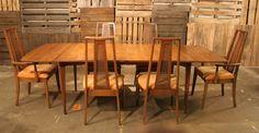 Mid Century Modern - Danish - Broyhill Emphasis Dining Room Set (6) Chairs