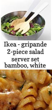 Ikea - gripande 2-piece salad server set bamboo, white, #2Piece #Bamboo #gripande #Ikea #Salad #Server #Set #White Cajun Chicken Salad, Chicken Recipes, Chili Recipes, Salad Recipes, Lemon Rosemary Chicken, Crockpot White Chicken Chili, Fish Salad, Ikea, Bamboo