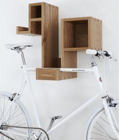 Estanterías que te sirven para aparcar la bici #WOOD #Imagine #GoodIdeas