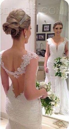 Ericdress Sexy Backless Mermaid Wedding Dress 2