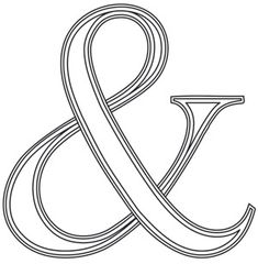 Letter Perfect - Punctuation Ampersand design (UTH7700) from UrbanThreads.com