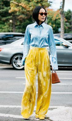 yellow pants street style