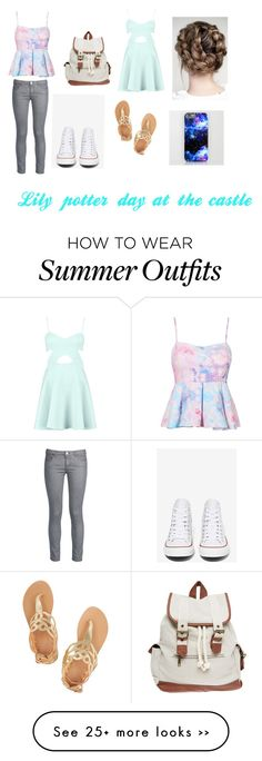 """Cool and cute outfit for spring and summer!"" by annabeth-outfits on Polyvore featuring George J. Love, Converse, Ancient Greek Sandals and Wet Seal"