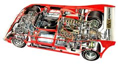 Alfa Romeo Tipo - Illustration attributed to Bruno Betti Road Race Car, Race Cars, Slot Cars, Karting, Le Mans, My Dream Car, Dream Cars, Vmax, Ferrari