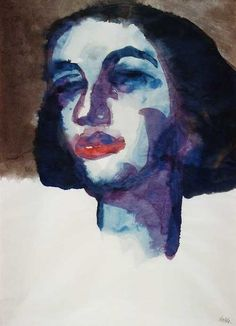 "Emil Nolde: ""Portrait of Mary Wigman"" 1920"