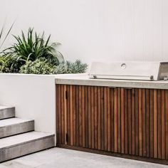 Detail shot from a project in Coogee. We clad the BBQ cabinetry with cedar to warm the aesthetic of the space. Looking forward to sharing… Outdoor Bbq Kitchen, Outdoor Kitchen Design, Outdoor Cooking, Outdoor Kitchens, Small Backyard Design, Backyard Pool Designs, Backyard Landscaping, Outdoor Areas, Outdoor Rooms