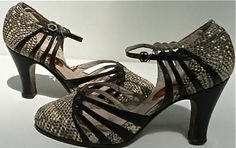 RESERVED for CLAUS Jahnke -art deco german flapper shoes size 5 / 1920s 30s art…