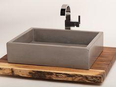 From IAMTHELAB.com: Concrete Vessel Sink   #Concrete #Sinks