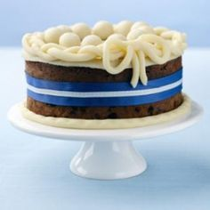 A chocolate version of the Easter treat, Simnel cake. The balls used to decorate this Chocolate Simnel Cake Recipe represent the 11 true disciples.