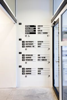 De Locomotief on Behance. Letter Menu Board used as wayfinding for consultancy Environmental Graphic Design, Environmental Graphics, Directory Design, Monospace, Navigation Design, Wayfinding Signs, Signage Design, Designer, Layout