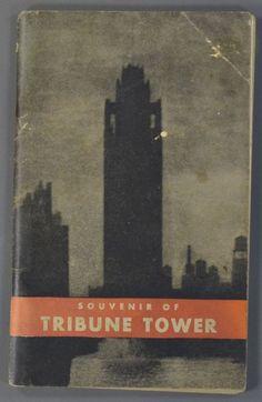 1932 Tribune Newspaper Tower Souvenir Booklet Chicago IL Illinois