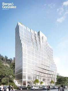 Architectural rendering of an office building on Behance