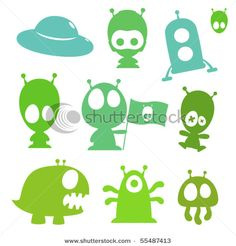 Find Collection Cartoon Aliens Monsters Spaceships stock images in HD and millions of other royalty-free stock photos, illustrations and vectors in the Shutterstock collection. Monster Decorations, Alien Crafts, Vinyl Paper, Silhouette Portrait, Space Crafts, Dragons, Flocking, Projects For Kids, Illustrations