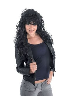 Rock Chick. Black (Wigs) - Female - One Size