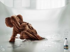 Dukto drain opener: Elephant      Let them run free.  Advertising Agency: Fahrenheit DDB, Lima, Peru Executive Creative Director: Ricardo Chadwick Creative Director: Ricardo Mendoza Head of Art: Luciano Leone Illustrator: Estilo3D