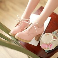 Japanese sweet cute lace high heels - Thumbnail 1