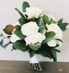 I love the simplicity of this bouquet -- possible for the bridemaids and then the bridal bouquet could have a bit more variety in flowers.
