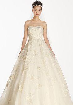 Oleg Cassini at David's Bridal Oleg Cassini Style CWG700 Wedding Dress - The Knot