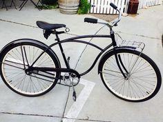 "Vintage 1965 Black Schwinn Typhoon 26"" Middleweight, Beach Cruiser, Bicycle, Single Speed, Fixie Bike #Schwinn"