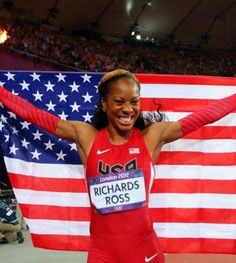London 2012: Team USA's Gold Medals: Sanya Richards-Ross! These track stars wear make up during their events!!