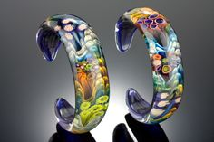 Kevin O'Grady borosilicate glass bracelets via Daily Art Muse