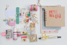 Heart Handmade UK: Vacation Summer Time Travel Art Journal Supply Kit | Elizabeth Kartchner Road Trip Art Supplies