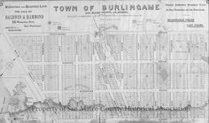 Proposed subdivision map of Burlingame, 1896