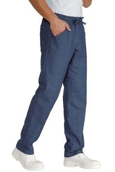 Pantalaccio Coulisse Unisex Ristorazione Attivita' Generica in Jeans cotone