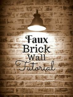 Perfect tutorial on how to build a faux brick wall in the kitchen (backsplash), maybe elsewhere! exposed brick look, DIY project. Faux Brick Wall Panels, Brick Wall Paneling, Faux Walls, Fake Brick Walls, Brick Feature Wall, Brick Bedroom, Diy Bedroom, Design Loft, Design Design