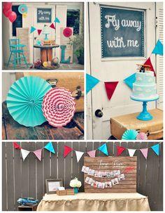 Vintage Airplane 1st Birthday Party via Kara's Party Ideas KarasPartyIdeas.com (2)
