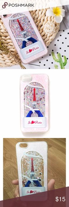 Paris❤️ Quicksand iPhone 8 Case ➡️Discount Only With Bundle Of 2 Or More Items⬅️  Show off your iPhone while protecting it from bumps and scratches.  * High Quality Tight Fitting Hardshell Case * Gorgeous Quicksand Glitter Within The Paris Design   * Bump/ Anti Shock  * Fitted Design * New In Package  * Same Or Next Day Shipping Accessories