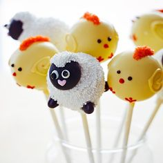 Easter: Sheep and Chick Cake Pops