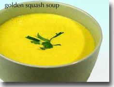 Golden Squash Soup (recommended to me by Donna Patterson) uses coconut milk, butternut squash, onion, ginger and warm spices