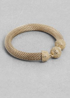 & Other Stories | Woven metal bracelet