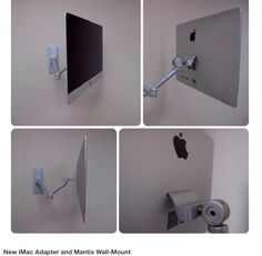 This would solve problem of small desk space. Imac Mantis wall mount