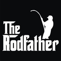 127 The Rodfather T-shirt Gray Blue and Black by KayKaysStuff