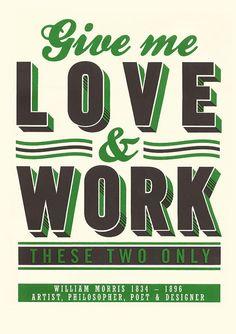 LOVE & WORK screen print by James Brown #eastlondondesignstore #elds #coolprints #coolpresents www.eastlondondesignstore.com