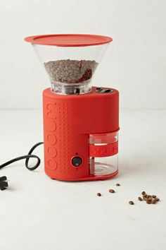Bodum Bistro Electric Burr Coffee Grinder In Red