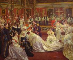 Laurits Tuxen (1853-1927): Marriage of Princess Maud of Wales, 1896
