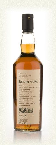 (C+) Benrinnes 15 (Speyside): Spectacular nose rich with fruit and floral scents, but it peters out when it hits the tongue. Hardly a finish to speak of. What's there is nice, but there's not much there there.