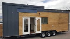 """Nicknamed the """"Warehouse"""" because of all its storage space, this 30' tiny house was built by Alpine Tiny Homes and destined for Park City, Utah."""